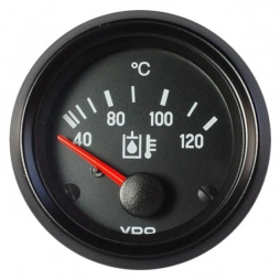 VDO Cockpit International® 310-040-013G Hydraulic oil temperature 120 ° C Ø52mm 24V