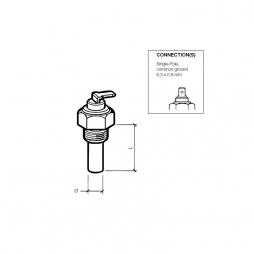 VDO 323-801-001-022N Sensore temperatura 120° M18/x1,5