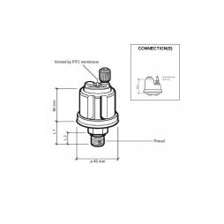 VDO 360-081-052-003C Sensore di Pressione 0-3Bar/M12