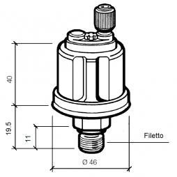 VDO 360-081-029-004C Sensore di Pressione 0-5Bar - 1/8-27NPTF