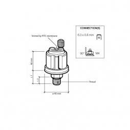 VDO 360-081-029-041C Sensore di Pressione 0-5 Bar -1/8\