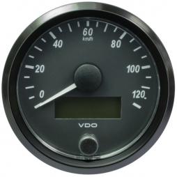VDO A2C3832910001 SingleViu Speedometer 120 Km/h Black 80mm