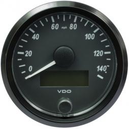 VDO SingleViu A2C3832920001  Speedometer 140 Mph Black 80mm