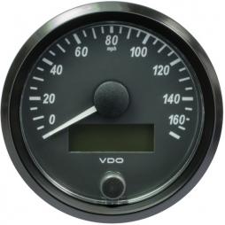 VDO A2C3832930001 SingleViu Speedometer 160 Mph Black 80mm