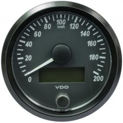 VDO A2C3832940001 SingleViu Speedometer 200 Km/h Black 80mm