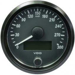 VDO A2C3832950001  SingleViu Speedometer 300 Km/h Black 80mm