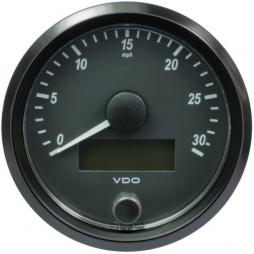 VDO A2C3832880001 SingleViu Speedometer 30 Mph Black 80mm