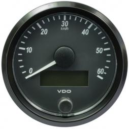 VDO A2C3832890001  SingleViu Speedometer 60 Km/h Black 80mm