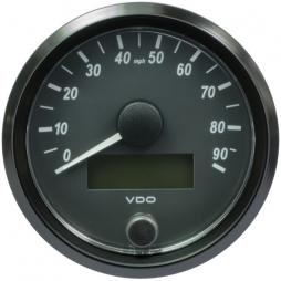 VDO SingleViu A2C3832900001 Speedometer 90 Mph Black 80mm