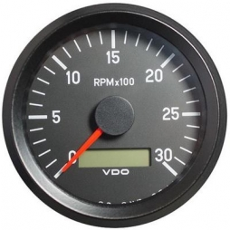 VDO Cockpit International® 333-035-010G RPM and hour counter, 0-3000, Ø80mm 12-24V