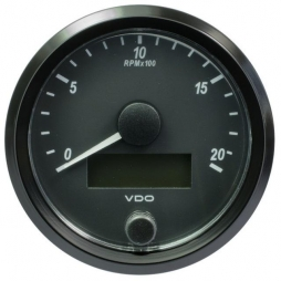 VDO SingleViu™ A2C3832960001 Contagiri 2000 Giri Nero Ø80mm