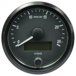 VDO SingleViu™ A2C3832970001 Contagiri 2500 Giri Nero Ø80mm