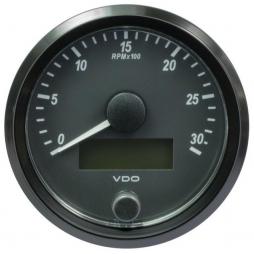 VDO SingleViu™ A2C3832980001 Contagiri 3000 Giri Nero Ø80mm