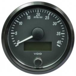 VDO SingleViu A2C3832990001  Tachometer 4.000 RPM Black 80mm