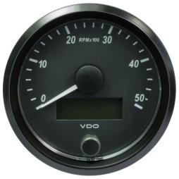 VDO SingleViu A2C3833000001 Tachometer 5.000 RPM Black 80mm