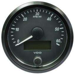 VDO SingleViu™ A2C3833010001 Contagiri 6000 Giri Nero Ø80mm