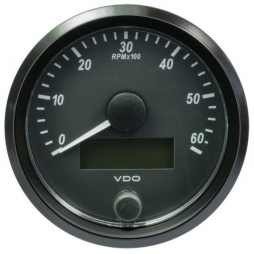 VDO SingleViu A2C3833010001 Tachometer 6.000 RPM Black 80mm