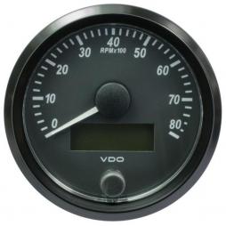 VDO SingleViu™ A2C3833020001 Contagiri 8000 Giri Nero Ø80mm