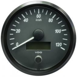 VDO SingleViu A2C3832860001 Speedometer 120 Km/h Black 100mm