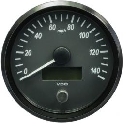 VDO SingleViu A2C3832850001 Speedometer 140 Mph Black 100mm