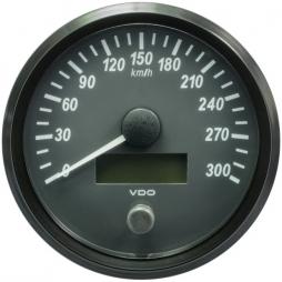 VDO SingleViu A2C3832830001 Speedometer 300 Km/h Black 100mm