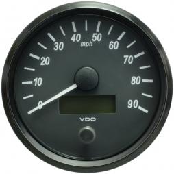 VDO SingleViu A2C3832870001 Speedometer 90 Mph Black 100mm