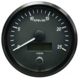 VDO SingleViu™ A2C3832820001 Contagiri 2500 Giri Nero Ø100mm