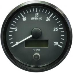 VDO A2C3832810001 SingleViu Tachometer 3.000 RPM Black 100mm