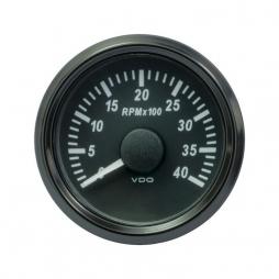 VDO A2C3833030001 SingleViu Tachometer 4.000 RPM Black 52mm