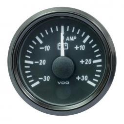 VDO SingleViu A2C3833090001 Ammeter 30A Black 52mm