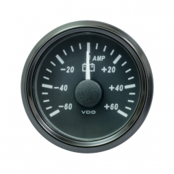 VDO SingleViu A2C3833080001 Ammeter 60A Black 52mm