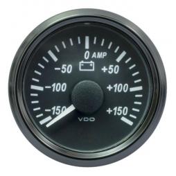 VDO SingleViu A2C3833060001 Ammeter 150A Black 52mm