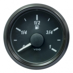 VDO SingleViu A2C3833110001 Fuel Level 90-0.5 Ohm* Black 52mm