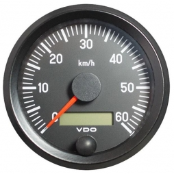 VDO Cockpit International® 437-035-001G, Speedometer 0-60 Km/h, Ø80mm 12-24V