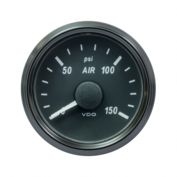 VDO SingleViu A2C3833440001  Air Pressure 150PSI Black 52mm