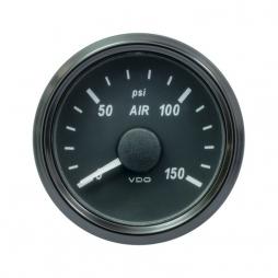 VDO SingleViu™ A2C3833440001  Pressione Aria (Generico) 0-150psi/52mm