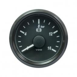 VDO SingleViu™ A2C3832710001 Pressione olio freno 16Bar Nero Ø52mm