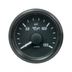 VDO SingleViu 1402 Engine Oil Pressure 150PSI Black 52mm