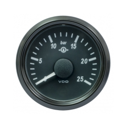 VDO SingleViu 1167 Gear Oil Pressure 25Bar Black 52mm