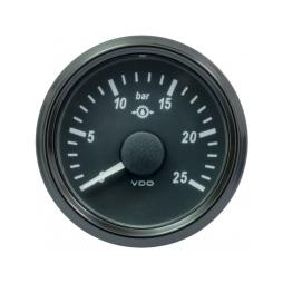 VDO SingleViu™ A2C3833460001 Pressione Olio di Trasmissione 0-25Bar/52mm