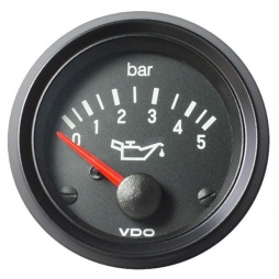 VDO Cockpit International® 350-040-003G, Engine Oil Pressure 5Bar Ø52mm 24V