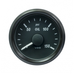VDO A2C3833240001 SingleViu OIL Engine Oil Pressure 150PSI Black 52mm
