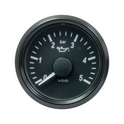 VDO SingleViu A2C3833160001 Engine Oil Pressure 5Bar Black 52mm