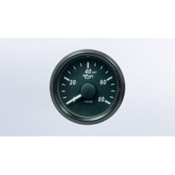 VDO SingleViu™ A2C3833190030 Pressione Olio Motore 0-80PSI/ 52mm