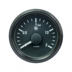 VDO SingleViu A2C3833490001 Turbo Pressure 2Bar Black 52mm