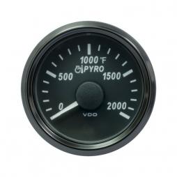 VDO SingleViu A2C3833050001 Pyrometer 2000°F Black 52mm