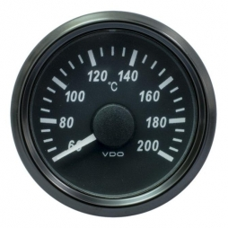 VDO SingleViu A2C3833520001 Cylinder Temperature 200°C Black 52mm