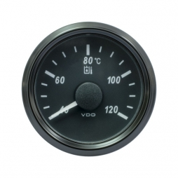 VDO SingleViu A2C3833510001 Hydraulic Temperature 40-120°C Black 52mm