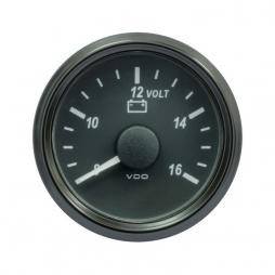 VDO SingleViu A2C3832770001 Voltmeter 8-16V Black 52mm