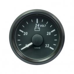 VDO SingleViu A2C3832780001 Voltmeter 16-32V Black 52mm